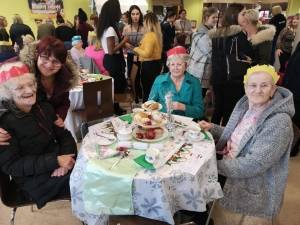 Goldendale Care Home Residents Christmas Afternoon Tea